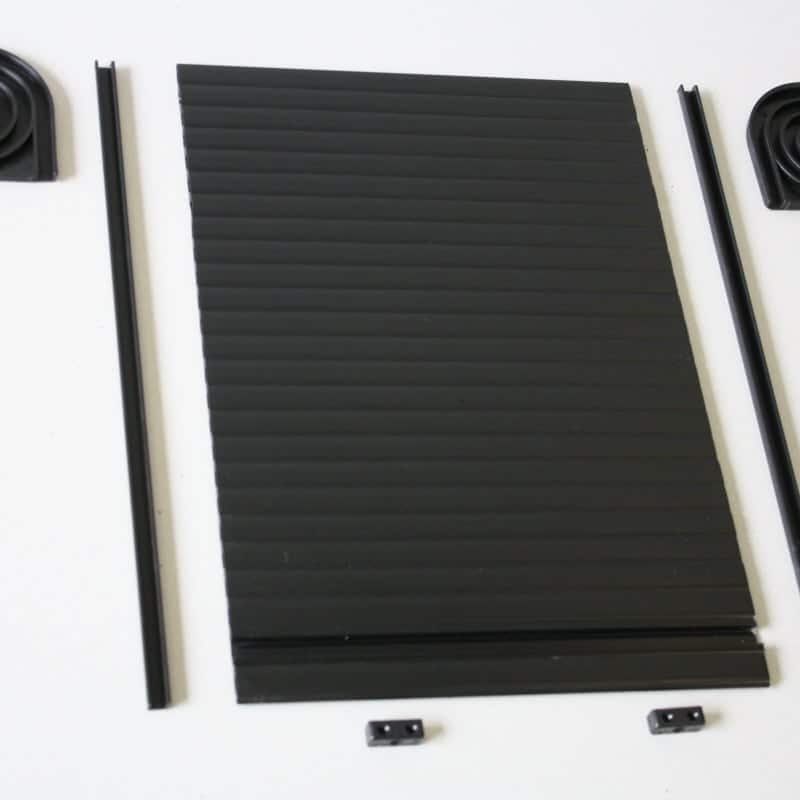 tambour-door-black & Tambour Door Kit - Gloss Black for your VW camper van conversion Pezcame.Com