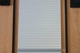 Tambour doors silver