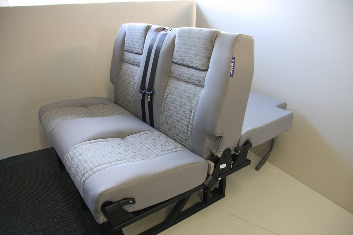 RIB Altair 120cm Campervan Seat / Bed VW T5 Place Fabric ...