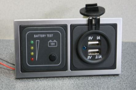 Battery Tester Double USB CBE D BT USB SQ