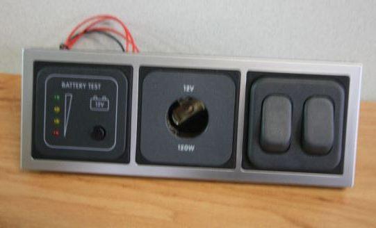12v Socket Double Switch Battery Tester CBE T 12 DSW BT SQ