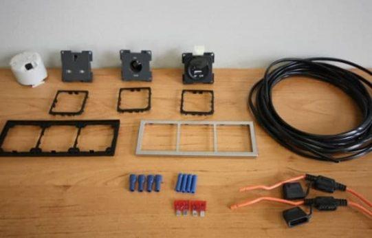 240v Socket 12v Socket Double USB Wiring Kit CBE TEK 12 240 USB SQ e1480672644934