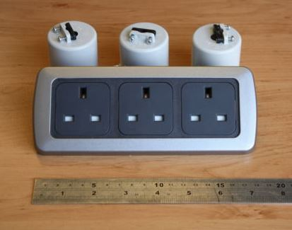 CBE 3 x 240v Sockets for self build campervan electrics