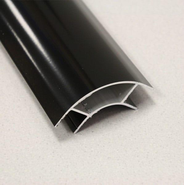 Aluminium Corner Profile Black Large Radius