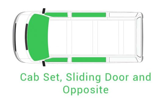 Cab Set Sliding Door Opposite
