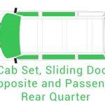 Cab Set Sliding Door Opposite and Passenger Rear Quarter