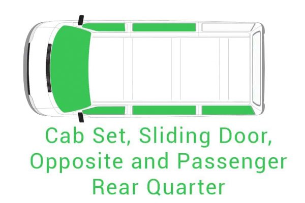 Cab Set Sliding Door Opposite and Passenger Rear Quarter