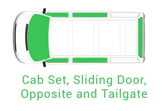 Cab Set Sliding Door Opposite and Tailgate