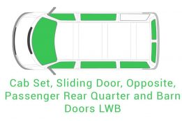 Cab Set Sliding Opposite Passenger Rear Quarter and Barn Doors LWB