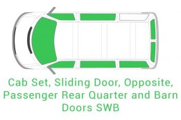 Cab Set Sliding Opposite Passenger Rear Quarter and Barn Doors SWB