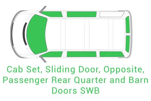 Cab Set Sliding Opposite Passenger Rear Quarter and Barn Doors SWB