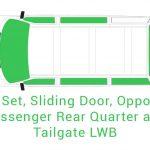 Cab Set Sliding Opposite Passenger Rear Quarter and Tailgate LWB