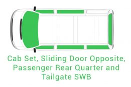 Cab Set Sliding Opposite Passenger Rear Quarter and Tailgate SWB