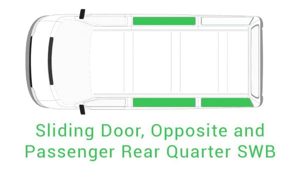 Sliding Door Opposite Passenger Rear Quarter SWB