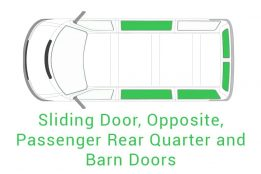 Sliding Door Opposite Passenger Rear Quarter and Barn Doors
