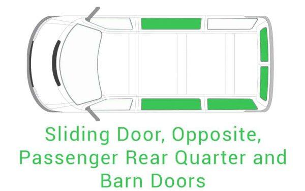 Sliding Door Opposite Passenger Rear Quarter and Barn Doors