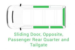 Sliding Door Opposite Passenger Rear Quarter and Tailgate