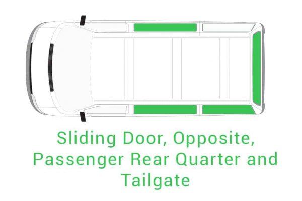 Sliding Door Opposite Passenger Rear Quarter and Tailgate