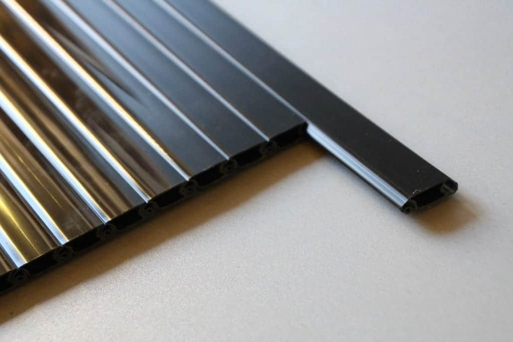 Tambor Door 1000mm Slats Black Clearcut Conversions