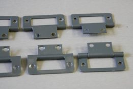 Flush hinge dark grey 3
