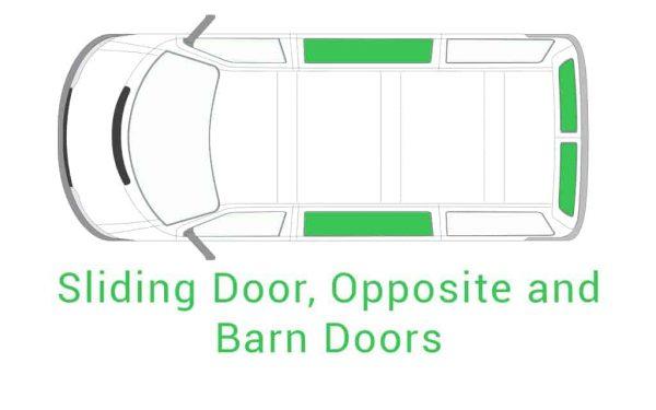 Sliding Door Opposite and Barn Doors 1