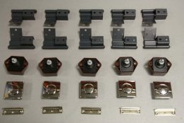 5 x Square Latch and Crank Hinges DG