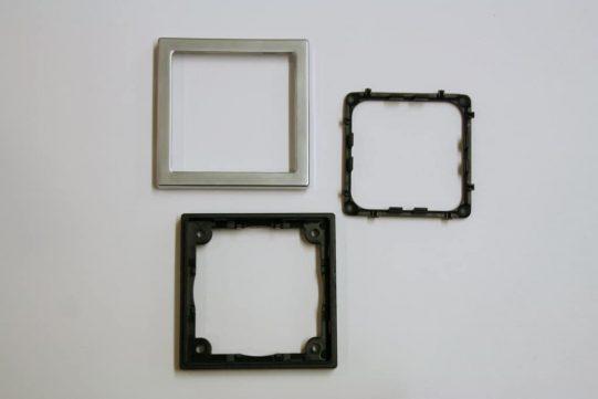 Single Chrome Square Components