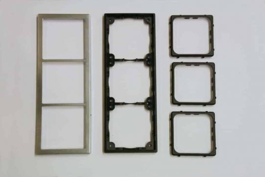 Triple Chrome Square Components