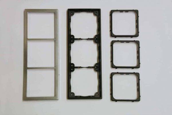 Triple Chrome Square Components