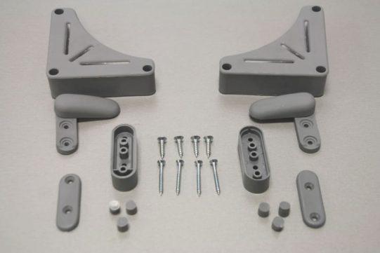 table brackets grey