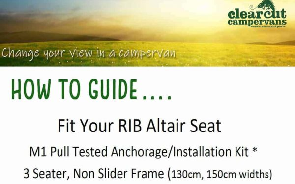 Fit your RIB 3 seater non slider