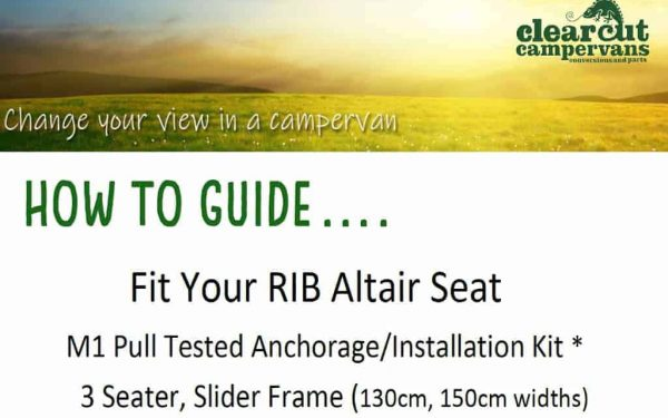 Fit your RIB 3 seater slider
