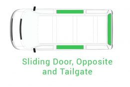 Sliding Door Opposite and Tailgate