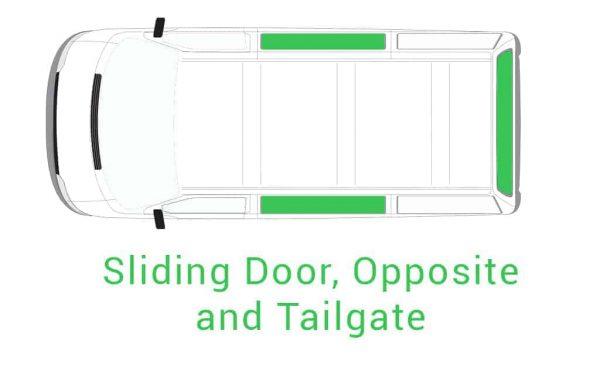 Sliding Door Opposite and Tailgate