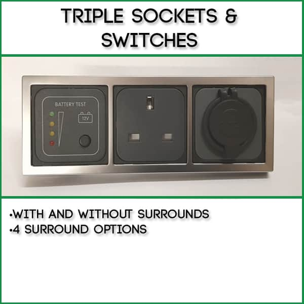 Triple Sockets/Switches