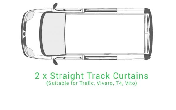 2 x Straight Track Curtains