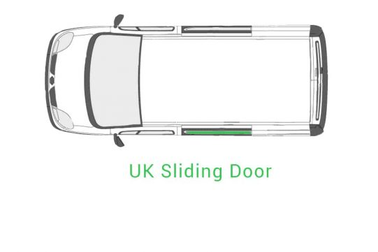 Old Shape Trafic 01 14 UK Sliding Door