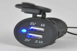 12v Double USB Socket12v USB Charger Socket
