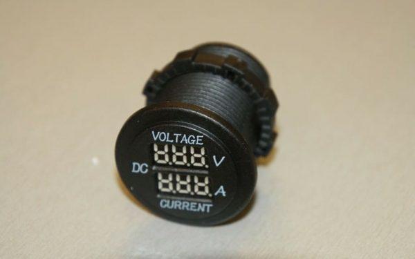 12v Voltmeter Ammeter Campervan VW T56 Van Volt and Amp Digital Meter 03