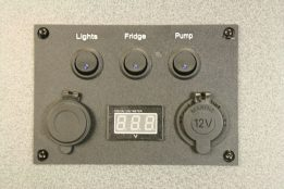 Control Panel 3 x Switches 12v Socket Voltmeter 12v USB Sockets 05