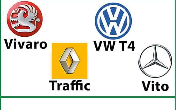 Rib Seats Vauxhall Vivaro, VW T4, Renault Traffic, Mercedes Vito